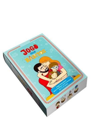 Jogo dos hábitos - jogo educativo de cartas para famílias com crianças de 2 a 8 anos
